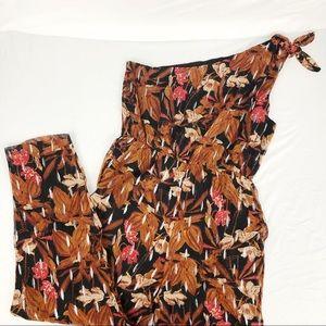 NWOT Anthropologie One Shoulder Printed Jumpsuit